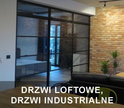 Drzwi loftowe, drzwi industrialne